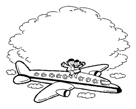 free coloring pages of airline travel