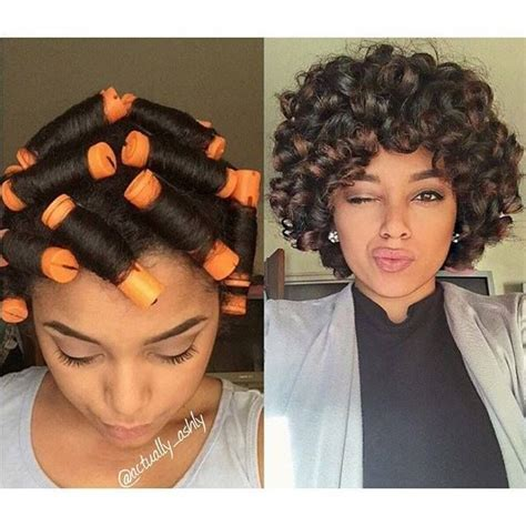 cool hairstyles from rollers for black women image result for perm rod roller set on relaxed hair