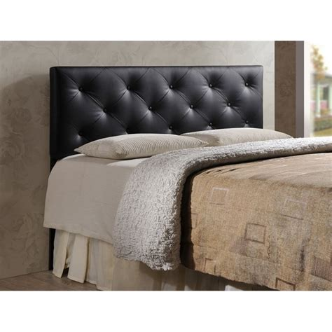 leather queen headboards bedford queen faux leather upholstered headboard bbt6431
