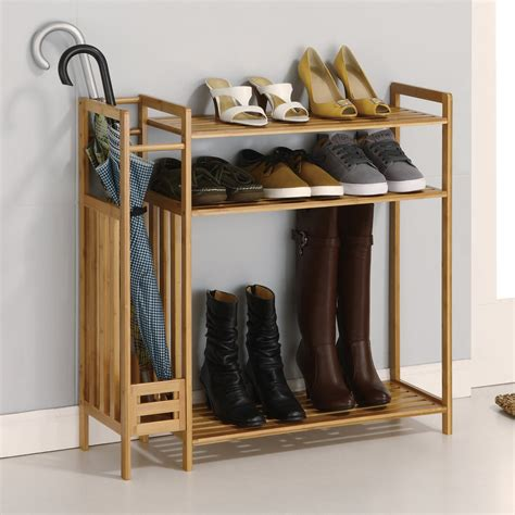 Foyer Closet Organizer by Organize It All Utility Entryway Organizer Wood Closet