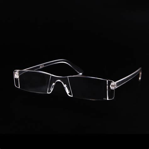 lightweight transparent rimless reading glasses new 1 1