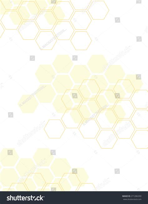 pattern over background yellow honey comb pattern over white stock vector