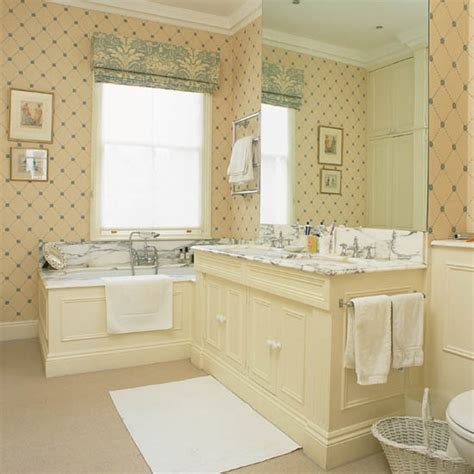 traditional bathroom wallpaper bathroom wallpapers ideal home