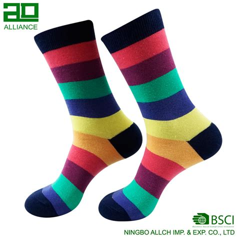 colorful socks fashion cotton crew colorful mens dress happy bamboo socks