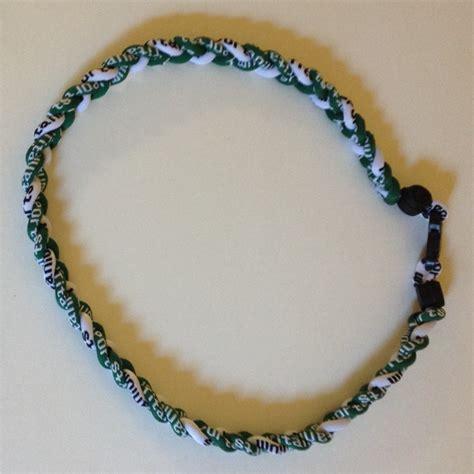 T01 218 Titanium Necklaces green and white titanium germanium necklace dph custom pins