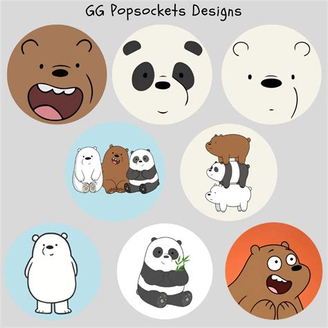 popsocket stickers we bare bears pop socket mobiles