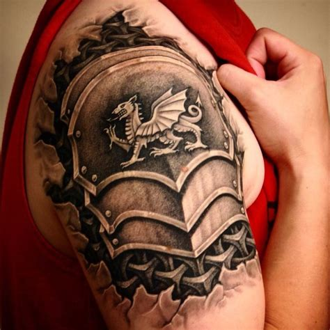 welsh tattoos for men my armor with the by robert