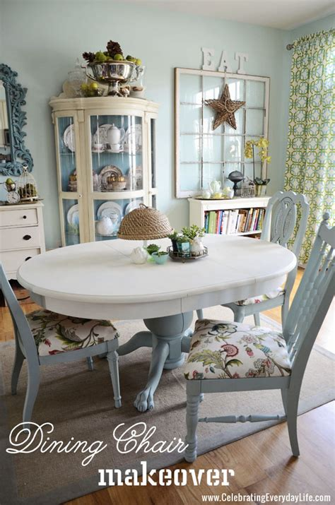 Paint Dining Room Chairs How To Recover A Dining Room Chair Easily Celebrating Everyday With Carroll