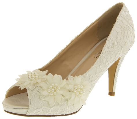 Bridal Heels Ivory by Ivory Bridal Heels Lace Satin Wedding Shoes