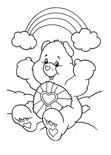 care bears whispering friend ear coloring pages care bears whispering friend ear coloring