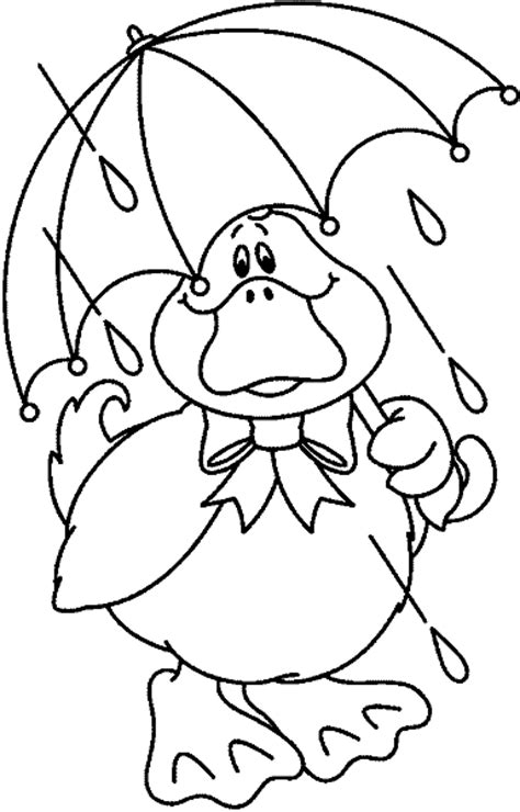 coloring page duck with umbrella white duck clip art memes