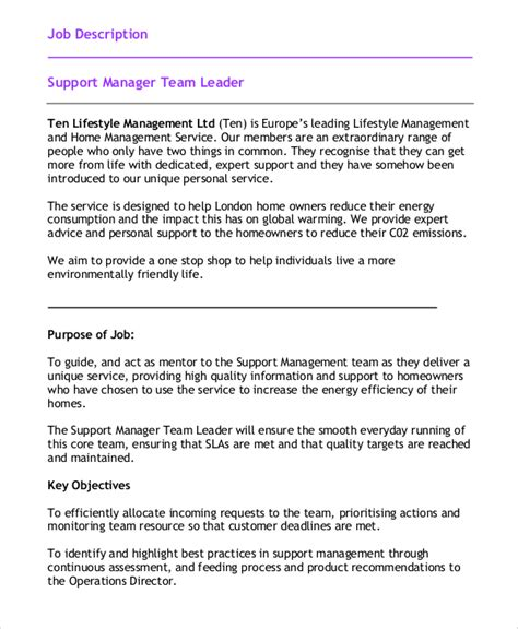 Team Leader Description For Resume by Shift Leader Description Server Shift Manager Resume
