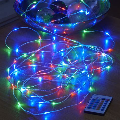 battery operated christmas lights with remote auraglow 10m remote in 100 micro led string lights ebay