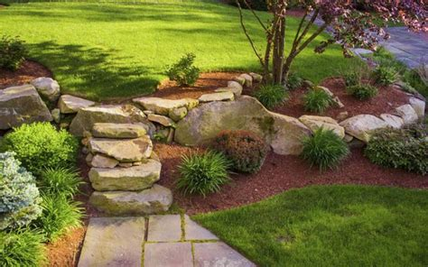 easy landscaping ideas for slopes easy front yard landscaping ideas with pictures ehow