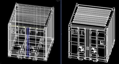 container ftxftxft  dwg model  autocad designs cad