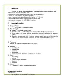 One Day Lesson Plan Template by One Day Lesson Plan