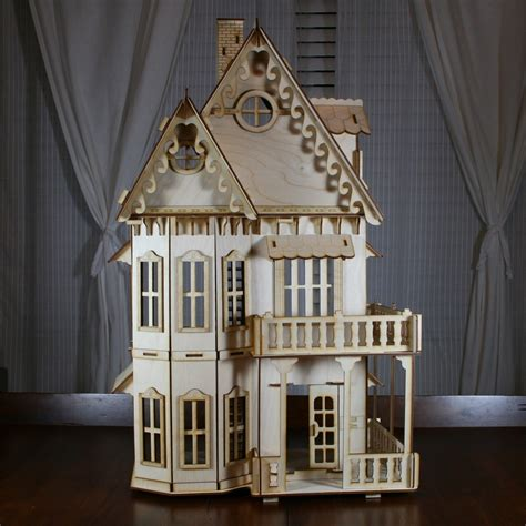 victorian doll house kit victorian gingerbread dollhouse baltic birch plywood kit