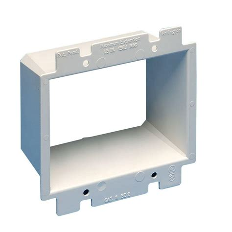 Electrical Ceiling Box Extender by Arlington Industries 2 Wall Box Extender Be2 1 The