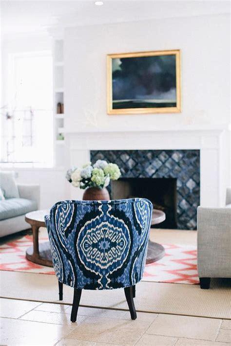 blue  gray fireplace tiles design ideas