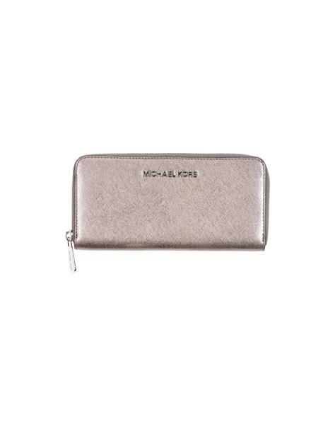Jual Wallet Platinum 1 michael kors wallet in silver platinum lyst
