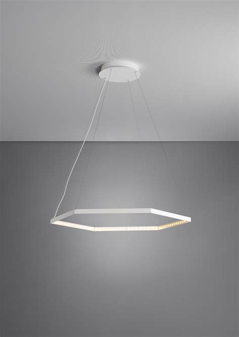 Indirect Pendant Lighting Led Direct Light Indirect Light Steel Pendant L Hexa 1 By Le Deun Luminaires
