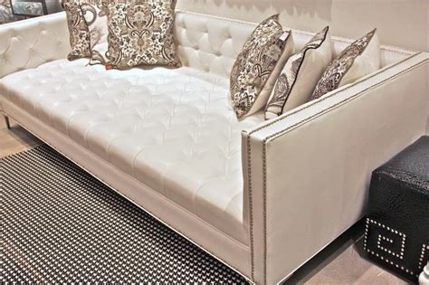 deep couch www roomservicestore com white faux leather tufted deep sofa