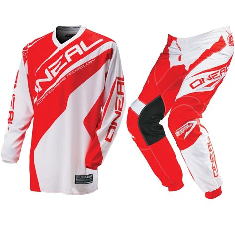 oneal motocross jersey oneal mx new 2016 element red white jersey pants motocross