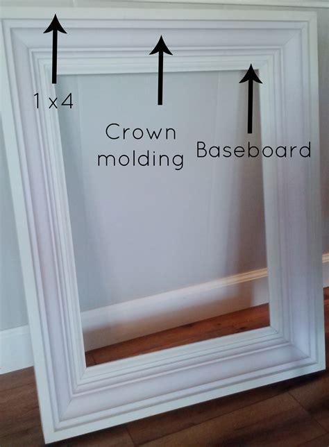 crown molding mirror beechridgecs com how to build a custom frame mine pinterest craft