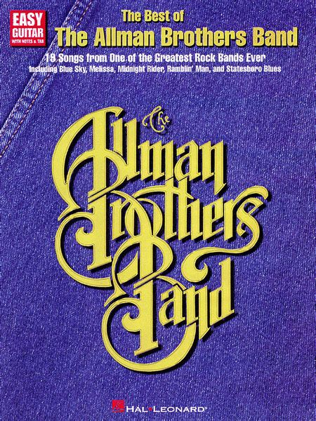 the best of the allman brothers band the best of the allman brothers band easy guitar sheet