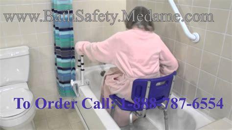 how to make bathroom safe for elderly white shower chair for elderly bathroom safety youtube