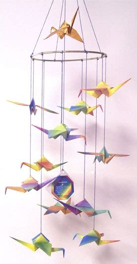 Crane Mobile Origami - origami crane mobile tsuru origami