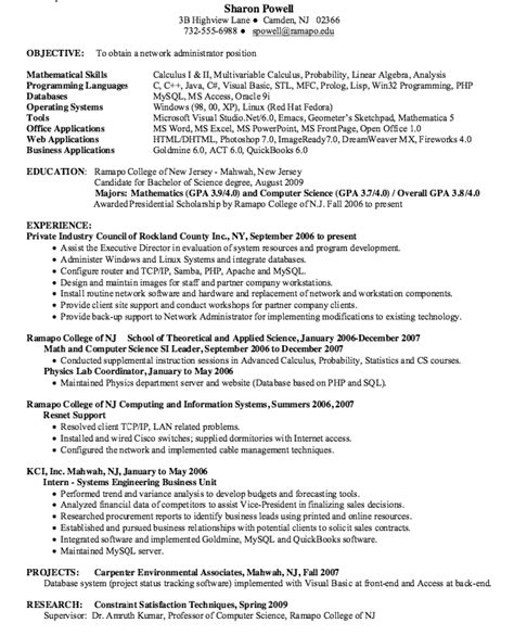 network administrator resume sle hometown pet grooming resume sle resumes design