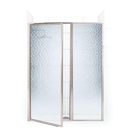 Swing Shower Doors Coastal Shower Doors Legend Series 40 In X 66 In Framed Hinge Swing Shower Door With Inline