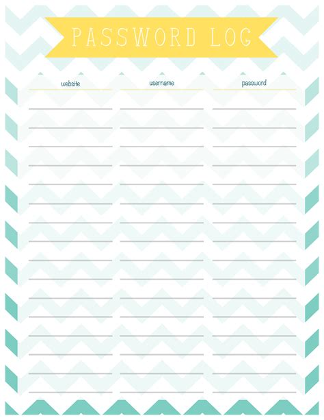 Password Printable