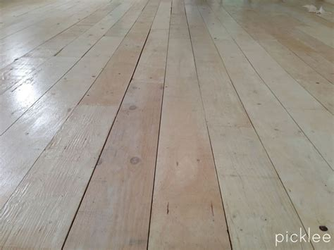 diy farmhouse wide plank floor made from plywood diy
