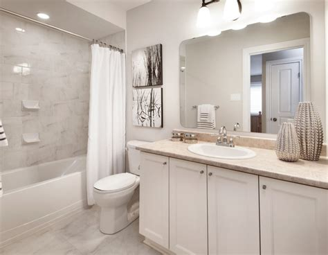 model homes transitional bathroom ottawa  tartan