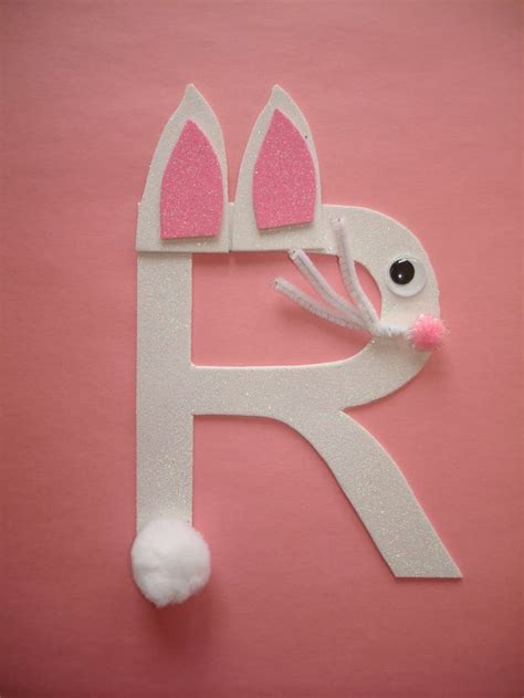 R Rabbit letter quot r quot rabbit easter