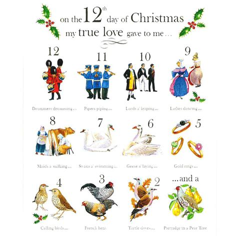 12 Days Of Decorations Uk twelve days of cards pack of 10 from