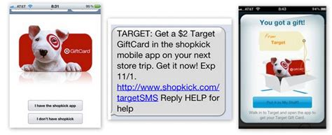 Shopkick Target Gift Card - free 2 target gift card from shopkick app