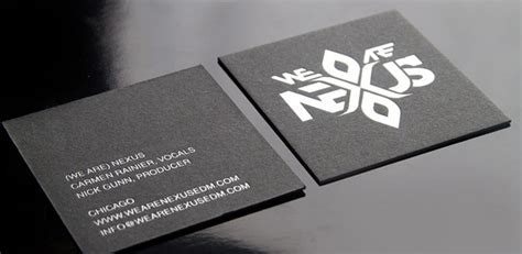 %name square business cards   Hard Suede Business Cards