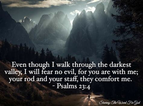 your rod and your staff comfort me verse of the day even though i walk through the darkest