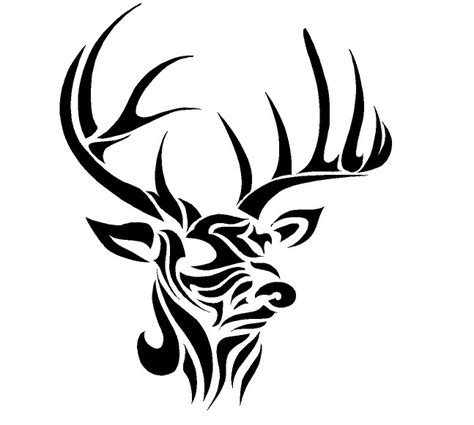tribal deer antler tattoos deer tribal decal search stencils