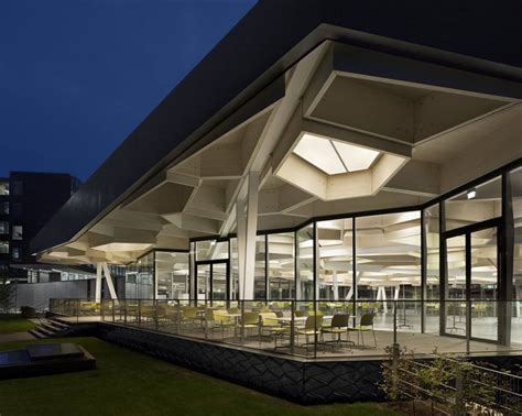 Home Design Story Lounge campus restaurant with auditorium by barkow leibinger
