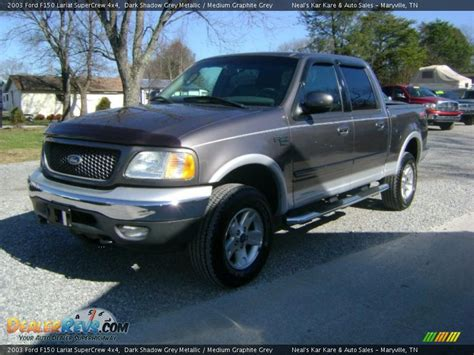 ford f150 4x4 2003 2003 ford f150 lariat supercrew 4x4 shadow grey