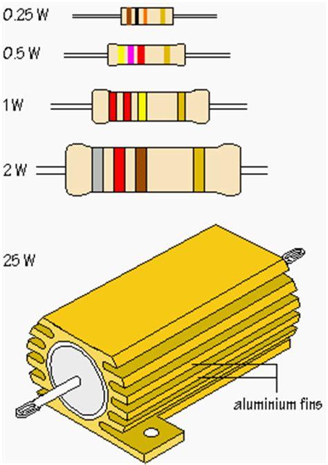 resistor ratings a look at the power rating of resistors eep