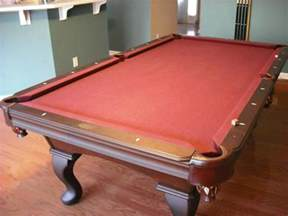 used 8 olhausen pool table with billiard accessories