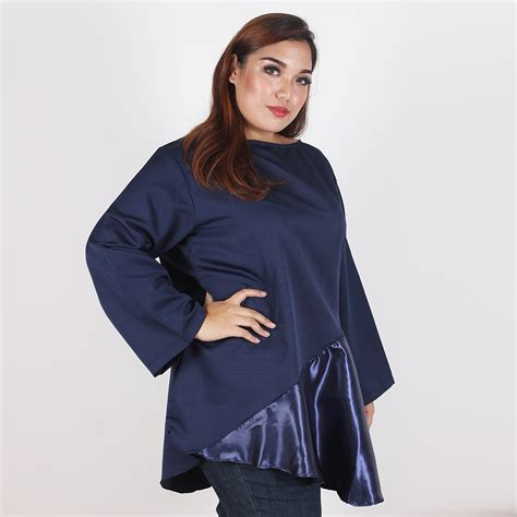 Dress Wanita Big Size Lingkar Dada 140 Cm Bs971 Murah bigsize blouse toko baju wanita big size jumbo