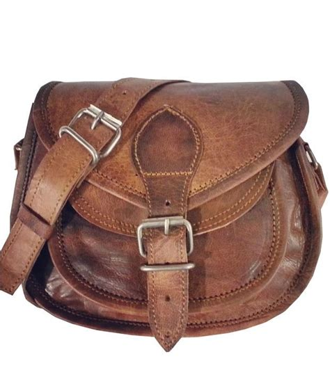 buy vintage brown leather sling bag for at best prices in india snapdeal