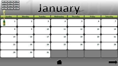 interactive calendar template 2017 interactive calendar a powerpoint template from