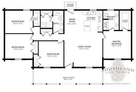 southland floor plan moss point log home plan by southland log homes